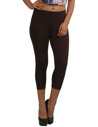 frenchtrendz-cotton-spandex-chocolate-capri
