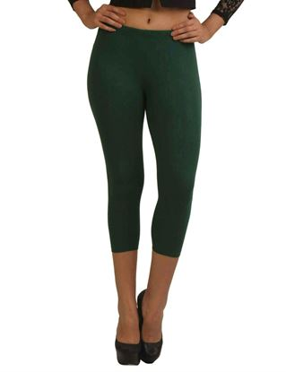 frenchtrendz-cotton-spandex-dark-green-capri