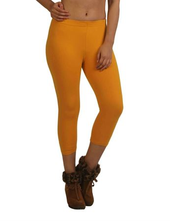 frenchtrendz-cotton-spandex-dark-mustard-capri