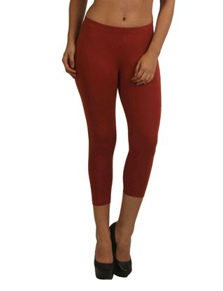 frenchtrendz-cotton-spandex-dark-rust-capri