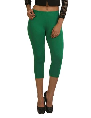 frenchtrendz-cotton-spandex-green-capri