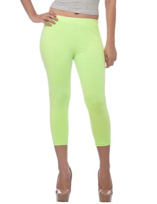 frenchtrendz-cotton-spandex-neon-green-capri
