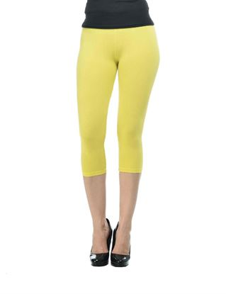 frenchtrendz-cotton-spandex-yellow-capri