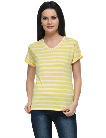 frenchtrendz-rolled-sleeve-yellow-white-stripes-top