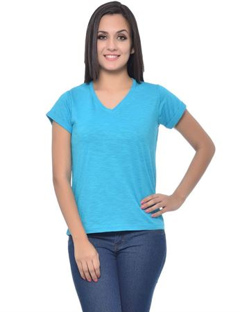 frenchtrendz-rolled-sleeve-cotton-slub-turq-top