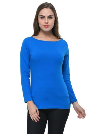 frenchtrendz-boat-neck-cotton-spandex-royal-blue-top