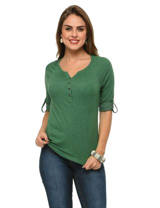 frenchtrendz-henley-raglan-polka-dot-dark-green-top