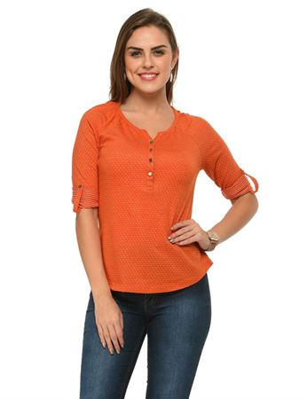 frenchtrendz-henley-raglan-polka-dot-rust-top