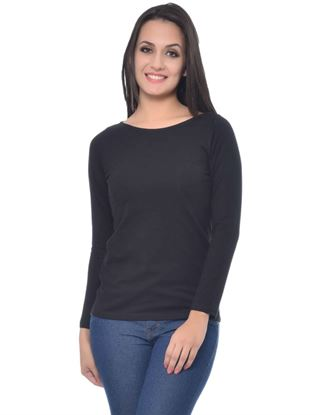 frenchtrendz-boat-neck-cotton-spandex-black-top