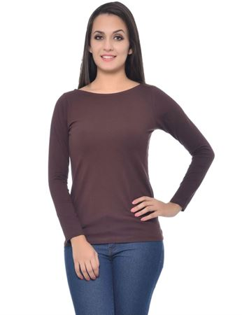 frenchtrendz-boat-neck-cotton-spandex-chocolate-top