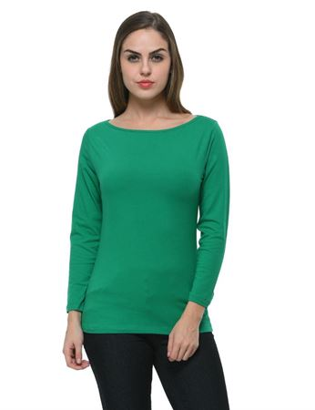 frenchtrendz-boat-neck-cotton-spandex-green-top