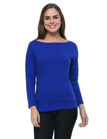 frenchtrendz-boat-neck-cotton-spandex-ink-blue-top