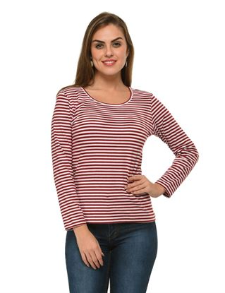 frenchtrendz-bateu-neck-cotton-spandex-maroon-white-stripe-top