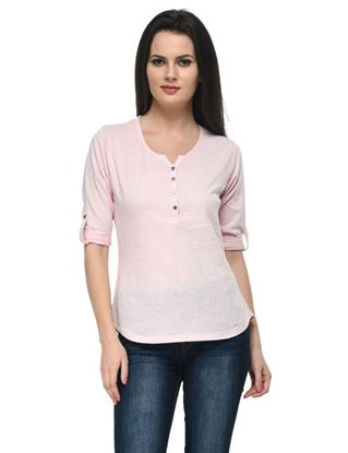 frenchtrendz-cotton-slub-34-rolled-button-henley-baby-pink-top