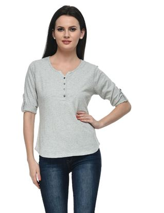 frenchtrendz-cotton-slub-34-rolled-button-henley-grey-top