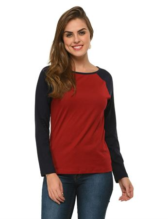 frenchtrendz-cotton-raglan-maroon-navy-full-sleeves-top
