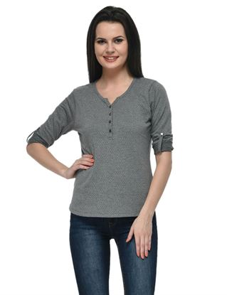 frenchtrendz-cotton-poly-34-rolled-button-henley-grey-top