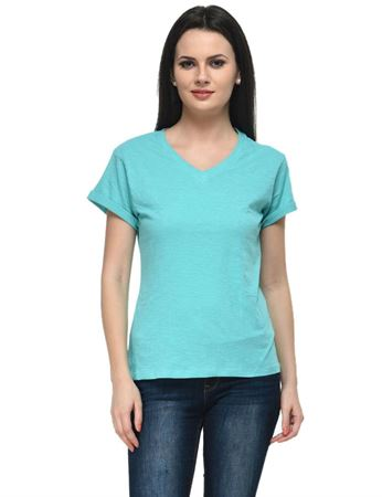 frenchtrendz-v-neck-cotton-slub-aqua-top