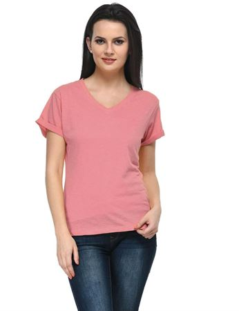 frenchtrendz-v-neck-cotton-slub-coral-top