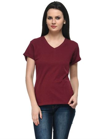 frenchtrendz-v-neck-cotton-slub-dark-maroon-top