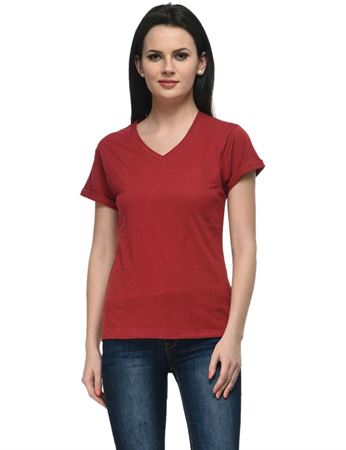 frenchtrendz-v-neck-cotton-slub-maroon-top