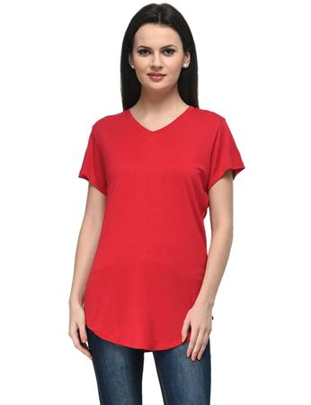 frenchtrendz-v-neck-long-viscose-red-top