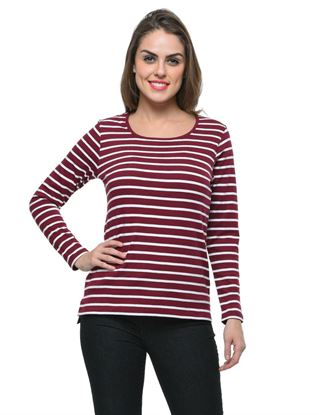 frenchtrendz-bateu-neck-cotton-wine-white-stripe-top