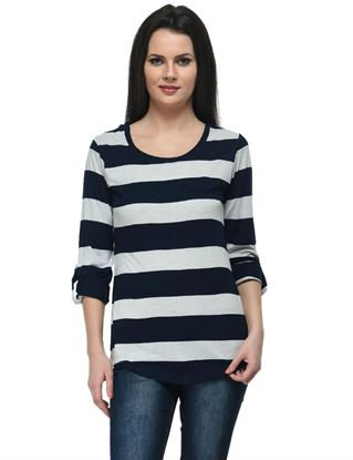 frenchtrendz-viscose-navy-oatmeal-stripe-top