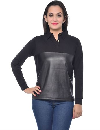 frenchtrendz-leather-polo-black-t-shirt