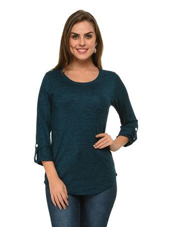 frenchtrendz-rolled-sleeve-viscose-grindle-teal-top