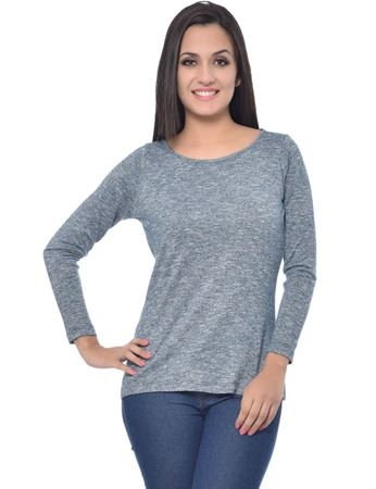 frenchtrendz-round-neck-grindle-blue-top