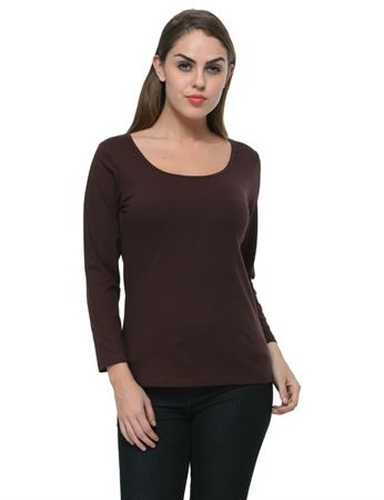 frenchtrendz-scoop-neck-cotton-spandex-chocolate-top