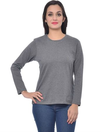 frenchtrendz-round-neck-cotton-interlock-dark-grey-top