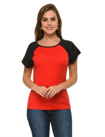 frenchtrendz-cotton-raglan-red-black-cap-sleeves-top