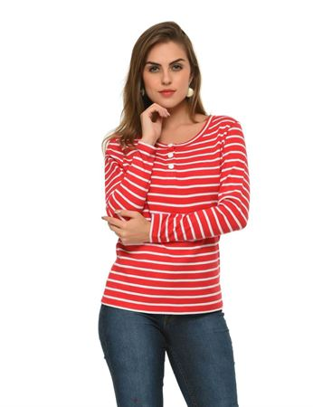 frenchtrendz-button-down-cotton-stripe-pink-white-top