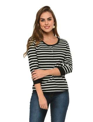 frenchtrendz-button-down-cotton-stripe-black-white-top