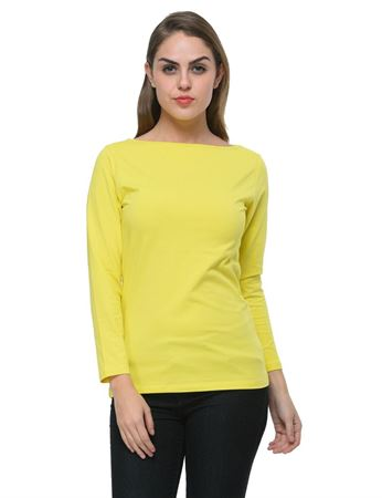 frenchtrendz-boat-neck-cotton-spandex-yellow-top