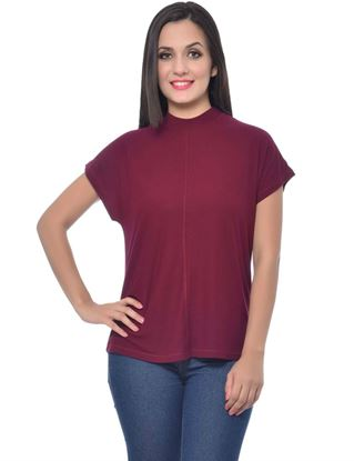 frenchtrendz-long-neck-dark-maroon-kimono-top
