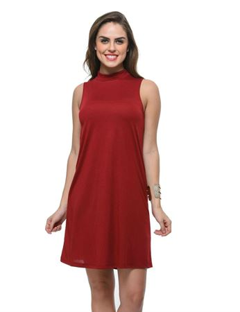 frenchtrendz-poly-viscose-dark-maroon-dress