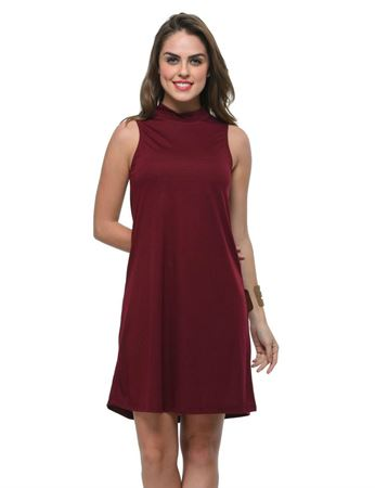 frenchtrendz-poly-viscose-plum-dress