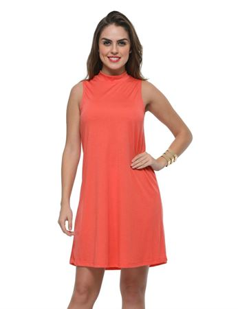frenchtrendz-poly-viscose-coral-dress