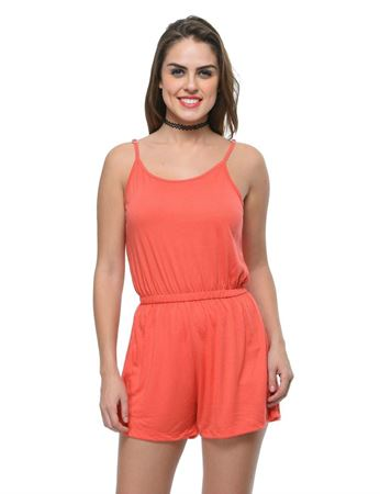 frenchtrendz-poly-viscose-coral-romper