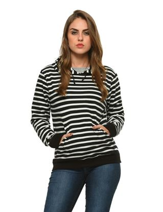 frenchtrendz-black-white-cotton-plain-hoodie