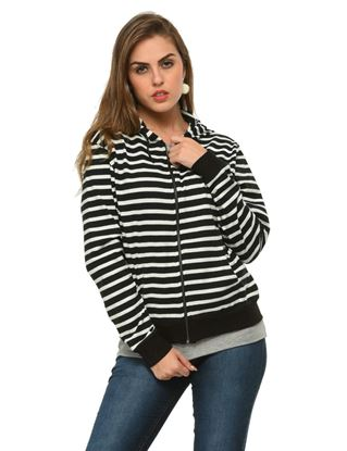 frenchtrendz-black-white-cotton-zipper-hoodie