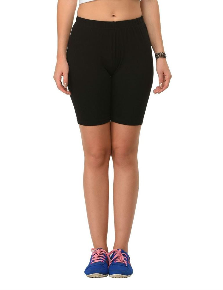 frenchtrendz-cotton-spandex-black-cycling-shorts