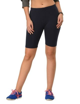 frenchtrendz-cotton-spandex-navy-cycling-shorts