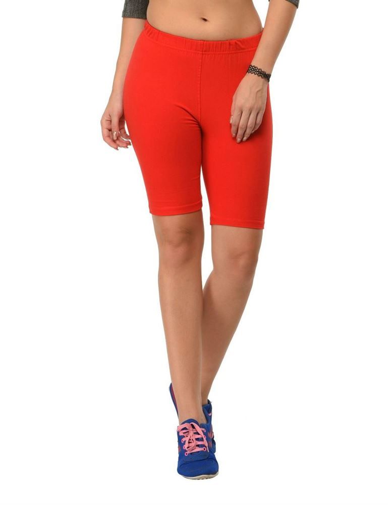frenchtrendz-cotton-spandex-red-cycling-shorts