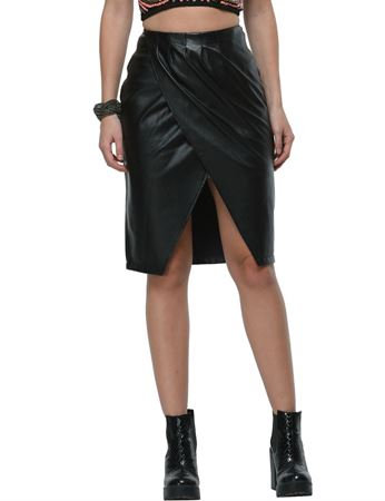 frenchtrendz-front-cut-leather-black-skirt