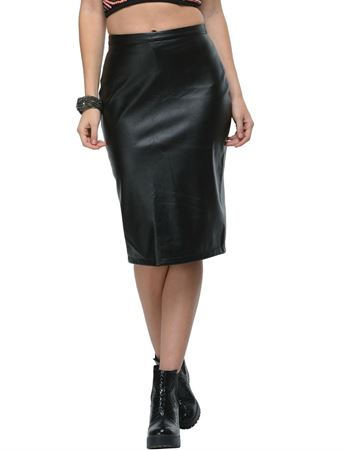 frenchtrendz-long-classic-leather-black-skirt