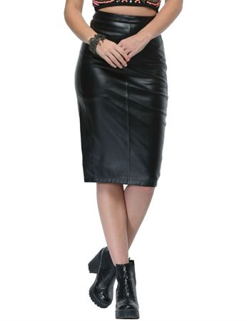 frenchtrendz-long-leather-black-skirt